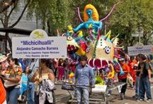 Giant Alebrije Parade / This is Michicihualli, the giant alebrije that Feria Maestros del Arte will sponsor in the November 9, 2013 parade in Mexico City. She will almost as tall as a house and made by a wonderful family from Xochimilco. Anyone out there made anything out of paper mache larger than this?