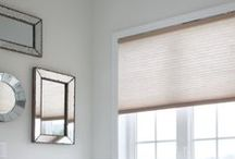 Wireless Shades for the Home / Serena remote controlled shades use batteries to operate, offering an easy-to-install solution with the convenience of automated control while allowing homeowners to control honeycomb shades from the comfort of their couch.  / by Lutron Electronics