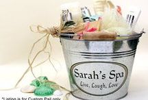 Custom Buckets and Pails / Great ideas for centerpieces using galvanized buckets.  We personalized them at capcatchers.com!