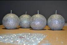 DIY velas de purpurina - candle / www.eldiariodediandra.com
