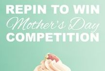 REPIN TO WIN Mother's Day Gift / Repin a Mother's Day present idea from this board for a chance to WIN that special gift! Closing date 23.03.14