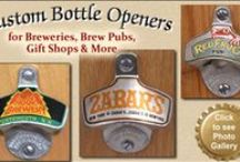 Custom Logo & Wholesale Beer Products!! / Wholesale custom bottle openers, buckets and stainless pint cups.   Whether you are a commercial brewery stocking a gift shop or a successful small business looking for unique employee incentives or promotional items, putting your logo on a custom bucket or traditional bottle opener will set you apart from the competition.
