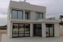 Recent Work - New villas La Marina, Costa Blanca / Just some before and afters of a villas we fitted last week in La Marina. Fitted with ClearView Tint silver solar reflective film - providing much needed privacy, and adding to these villas aesthetic look.  We had initially fitted the first villa, and on recommendations, the neighbour called us to fit their home also.Think you'd agree, it looks fantastic.