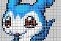 Cross stitch/perler beads free patterns / free patterns made by me! ^^