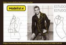 Roupa masculina modelagem moldes