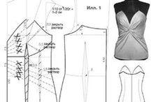 Blusas, blazers, casacos, tops, modelagens e moldes