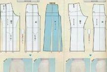 Calças, shorts, modelagens e moldes