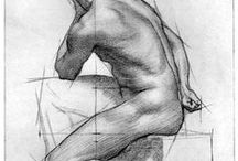 how to draw male anatomy! / imparare a disegnare