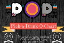 Bubble Tea Info-Graphics for Pop Cafe / Pop Cafe Info Graphics, because picture are easier!