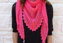 Crochet bufandas, gorros y guantes