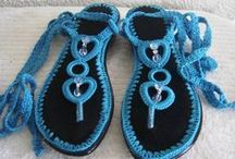 Crochet zapatos, zapatillas, etc.
