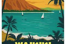 Vintage travel pósters