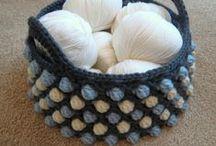 Crochet cajas, canastas, cestos