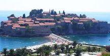 Montenegro / Pins de viagem com destino Montenegro nos Bálcãs nas cidades de Kotor, Dvorana Park, Perast, Kotor, Njegusi, Parque Nacional de Lovcen, Cetinje, Jaz beach, Budva e Sveti Stefan.