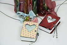 My little pendant books / take one of my workshops.  to find out where and when, check www.simplyprettystuff.blogspot.com