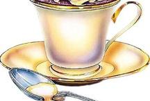 Illustrations - food, tea...