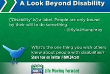 Mobilitweets / We ask our followers on Twitter one simple question: What's the one thing you wish people knew about the community with disabilities?  Comment on a pin here with your answer & you could be featured.