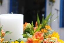 Στολισμός γάμου με Ηλιους / Γάμος σε εκκλησία με Ηλίανθους, Ασκλέπια, Αλστρομέρια, ζέρμπερα και πρασινάδες.