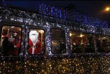 Karácsonyi villamosok Európában / Karácsony közeledtével nem csak az utcákat, hanem sok helyen a közlekedési járműveket is feldíszítik.
