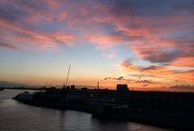 Luchten / Avondluchten boven Rotterdam meestal