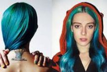 CHLOE NØRGAARD / Chloe Norgaad is the modern symbol of rebellion, she broke the usual mold of a model by dying her hair rainbow color. And made herself into a fashion icon. / by Rebel Circus