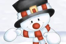 Mesevilág: Hóemberek (Dreamland: Snowman) / clip-art