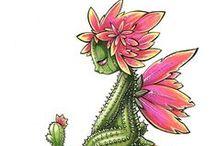 Cactus art / clip-art