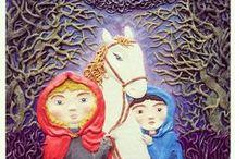 "Plasticine illustration / Plasticine illustration of the book by Astrid Lindgren ""Mio, my Mio"""