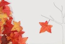 Autumn lleaves / I love leaves with their different forms and colors and they are so decorative. See all these brilliant ideas and make some craft with your kids with the leaves you collect. Be inspired!