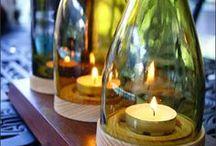 Ideas para mi hobby / Artesanias con botellas de vidrio