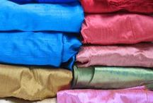 Handmade Textiles / Beautiful textiles in a variety of colour shades and patterns, for both decorative and functional use.