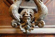 Doors,  door knockers, handles & doorbells