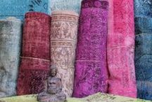 Overdyed & Patchwork Rugs / Beautiful Vintage Overdyed Rugs are great to ground & enliven any space. And they always add a touch of zing.