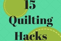 Tips and Tricks for quilting projects. / Why do everything the hard way.  Here are some great tips and tricks to use to make things just a little bit easier.