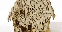 Dřevěné domečky,stavby,hračky