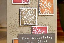 Karten - Inchies und Quadrate / by Beate