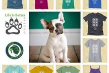"""Life is Better Rescue Campaign  / Anyone who has rescued a pet will tell you, these animals always hold a special place in your heart - Life is Better Rescue is this week's featured non-profit! Shop for your """"Best Things Are Rescued"""" tee or tank and we'll donate $8 to help this wonderful organization: www.float.org  Life is Better Rescue is not in the business for one animal, one breed or one species. Life is Better is making things better for animals of all varieties and the people who adopt them."""