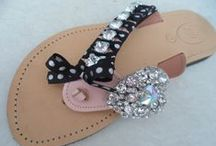 Handmade Greek leather sandals by elli lyraraki / greek leather sandals with decoration by ellishoes.blogspot.com