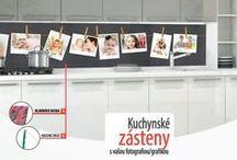 Kuchynské linky s vlastnou grafikou / fotografiou. Modern, kitchen ideas / Moderné kuchynské zásteny s vašim dizajnom
