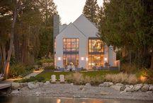 New House / A Modern Barn | Jos täytyisi rakentaa uusi talo. Hieman modernimpi linja skandinaavisilla mausteilla.