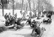 Vintage Winter / Images of winter sports and fun, and items that recall snowy days past.