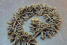 Beaded jewelry with Bugle beads