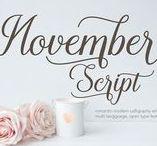 November / #typography