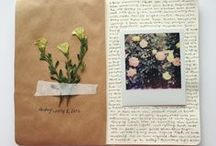 Journal Inspiration / I have always kept a journal. I had only ever filled them with boring text until I discovered different techniques others use to bring their pages to life. Now, keeping a journal has become not just therapeutic, but also a creative outlet for me.