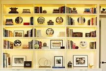 Libraries / beautifully styled book shelves
