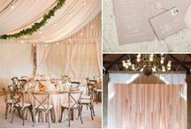 Blush Weddings / From blush tablecloths to blush table runners to blush napkins, this inspiration covers every little detail that you'll find useful for your elegant blush wedding.