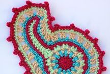 F.C.W. Motifs / Freeform Crochet World Group Patterns usable as scrumbles or part of scrumbles