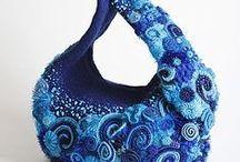 Freeform Crochet Bags / Freeform crochet bags