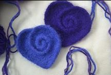 Felting / Wet and pin felted creations and tutorials