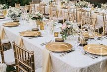 Champagne Weddings / Style insights and wedding table decor inspiration for champagne weddings.